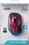 Rapoo Wireless Optical Mouse 7100P - Red
