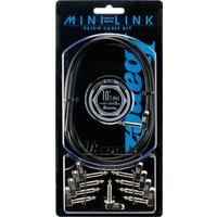 Ibanez Mini Link 3m 1/4 Inch Angled Patch Cable Kit (Black)