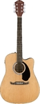 Fender FA-125CE FA Series Dreadnought Acoustic Electric Guitar (Natural)