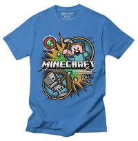 Minecraft - Hostile Mob - Youth T-Shirt - Royal Blue (9-10 Years) - Cover