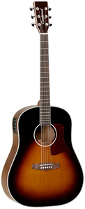 Tanglewood X15 SDTE Sundance Performance Pro Series Dreadnought Acoustic Electric Guitar (Vintage Burst) - Cover