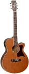 Tanglewood X45 NSE Sundance Performance Pro Series Super Folk Acoustic Electric Guitar (Vintage Amber)