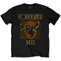 Foreigner Est 1977 Men's Black T-Shirt (Small)