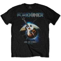 Foreigner Juke Box Heroes Men's Black T-Shirt (Small)