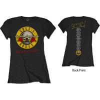 Guns N' Roses Not In This Lifetime Tour Ladies Black T-Shirt (X-Large)