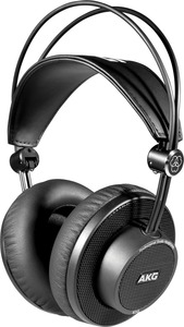 AKG K245 Over-Ear Open-Back Foldable Professional Studio Headphones (Black)