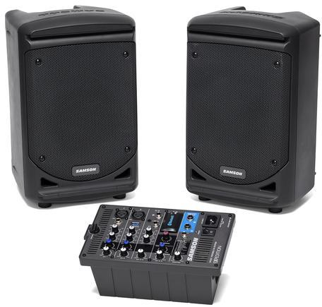 Samson XP300 Expedition Series 300 watt 6 Inch Portable PA System with  Bluetooth (Black)
