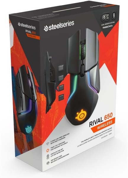 552fd230add SteelSeries - Rival 650 Wireless RGB Optical Gaming Mouse (PC) - Cover