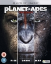 Planet of the Apes Trilogy (4K Ultra HD + Blu-ray)