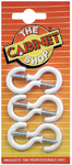 Cabinet Shop - 38mm Round Cup Hooks - White (Pack of 6)