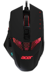 Acer - Nitro USB 4000 DPI Ambidextrous Gaming Mouse - Black/Red