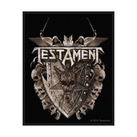 Testament Shield Sew On Patch - Cover