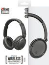Trust - Kodo Bluetooth Wireless Headphone - Black Metallic