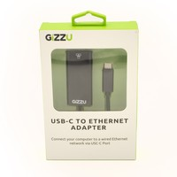 Gizzu USB-C to Ethernet 10/100m Adapter Black - Cover