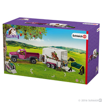 Schleich - Pick up With Horse Box - Cover
