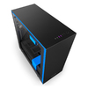 NZXT - H700 Computer Chassis - Matte Black/Blue