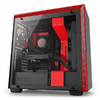 NZXT - H700 Computer Chassis - Matte Black/Red