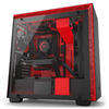 NZXT - H700i Computer Chassis - Matte Black/Red