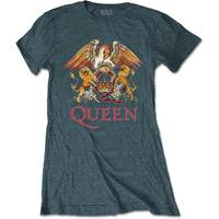 Queen Classic Crest Women's Heather T-Shirt (X-Large) - Cover