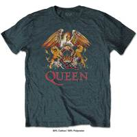 Queen Classic Crest Men's Heather T-Shirt (Small) - Cover