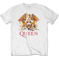 Queen Classic Crest Men's White T-Shirt (X-Large) - Cover