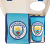 Manchester City Scarf & Supporter Banner Gift Set (Medium-Large)