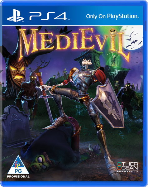 Image result for MEDIEVIL PS4 COVER