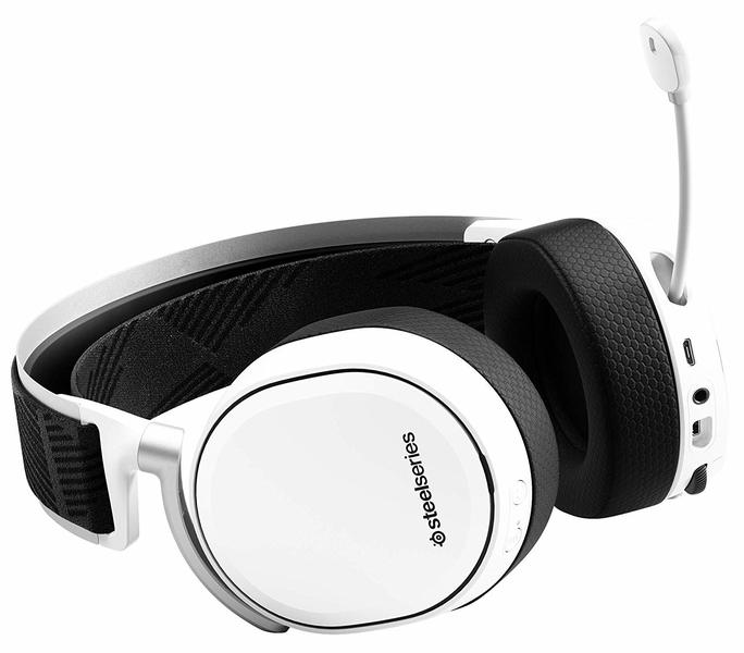 SteelSeries Arctis Pro Wireless - Gaming Headset - Hi-Res Speaker Drivers -  Dual Wireless (2 4G & Bluetooth) - Dual Battery System - White