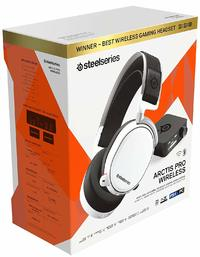 SteelSeries Arctis Pro Wireless - Gaming Headset - Hi-Res Speaker Drivers - Dual Wireless (2.4G & Bluetooth) - Dual Battery System - White (PC/PS4/Xbox One)