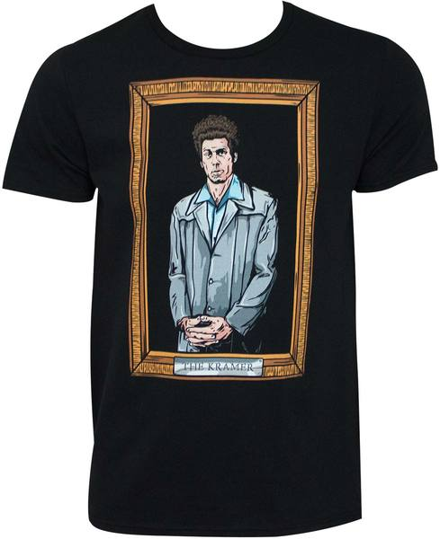 0923ead6c Seinfeld - Kramer Painting Black Tee Shirt (Large) - Merch Online | Raru