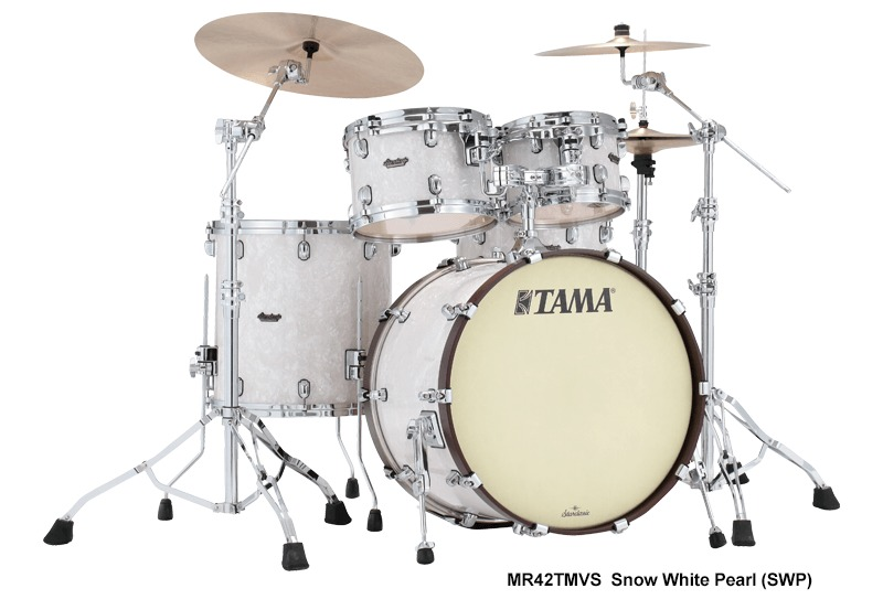 Tama MR42TMVS Starclassic Maple Series 4pc Limited Edition Acoustic Drum  Kit - Snow White Pearl (10 12 16 22 Inch)