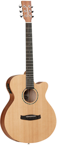 Tanglewood TWR2 SFCE Roadster II Series Super Folk Acoustic Electric Guitar (Natural) - Cover