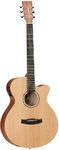 Tanglewood TWR2 SFCE Roadster II Series Super Folk Acoustic Electric Guitar (Natural)
