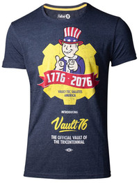 Fallout 76 - Vault 76 Poster Men's T-Shirt (Large) - Cover