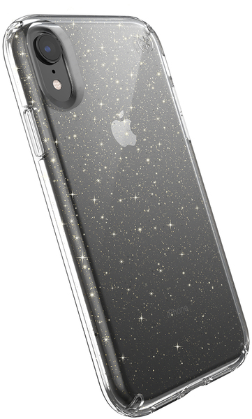 half off d6423 cdeb9 Speck Presidio Clear Series Case for Apple iPhone XR - Clear and Gold  Glitter