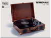 Bigben Interactive - TD102 Turntable 'Suitcase' - Leather