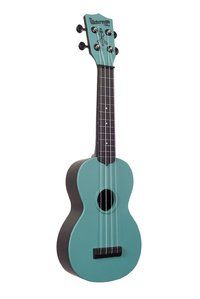 Kala SWG-BL Glow in the Dark Soprano Ukulele (Aqua Matte) - Cover