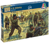 Italeri - 1/72 - WWII U.S. Infantry (Plastic Model Kit)