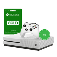 Microsoft - Xbox One S 1TB Console - Includes 3 Months Live (White) - Cover