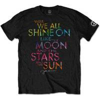 John Lennon Shine On Men's Black T-Shirt (Large) - Cover