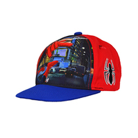 Spiderman - Front Snap Back Cap (Red) - Cover