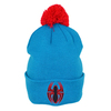 Spiderman - Logo Bobble Cuff Knitted Hat (Adult)