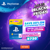 PlayStation Plus 12 Month Membership 20% Off Black Friday Promo (PS3/PS4/PS VITA)