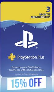 PlayStation Plus 3 Month Membership 15% Off Black Friday 2019 Promo (PS3/PS4/PS VITA) - Cover