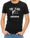 Fun With Flags Men's Black T-Shirt (XX-Large)