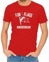 Fun With Flags Men's Red T-Shirt (X-Large)