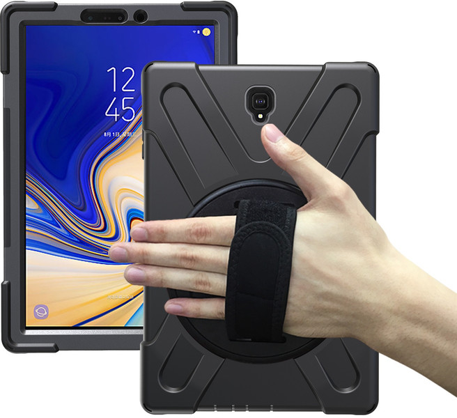 newest collection d651d 5d0ff Tuff-Luv Armour Jack Rugged Rotating Case Cover and Stand for Samsung  Galaxy Tab S4 10.5 - Black