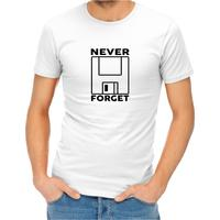 Never Forget Men's White T-Shirt (XXXX-Large)