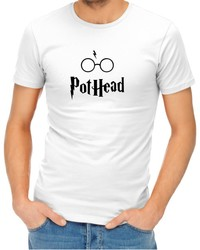 Pothead Men's White T-Shirt (XX-Large) - Cover