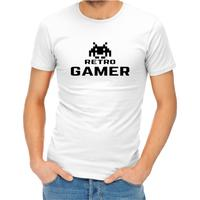 Retro Gamer Men's White T-Shirt (XXXX-Large)